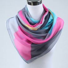 new arrival 2017 spring and autumn chiffon women scarf geometric pattern design long soft silk shawl 004