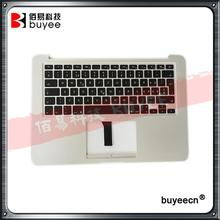 Original A1369 Topcase Palm Rest For Macbook Air A1369 Palmrest Top Case With Spanish SP Keyboard Backlight Late 2010 EU Version