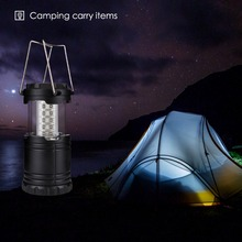 SANYI Ultra Bright Collapsible 30 Led Lightweight Camping Lanterns tent Light For Hiking Camping Emergencies Protable Lantern