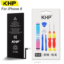 KHP 2017 New Original Replacement Phone Battery For iPhone 6 6G iPhone6 Real Capacity 1810mAh 0 Cycle Tool Kit Sticker Batteries(China)