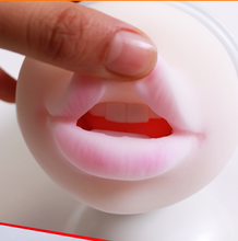New Sexy lips with teeth Real oral sex male vibrator pocket pussy masturbator,silicone pussy artificial vagina real pussy
