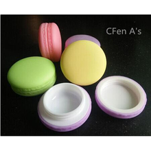 CFen A's Candy Color Macarons empty cosmetic containers Lipstick lip balm holder DIY sub-bottling cream jars,24pcs/lot