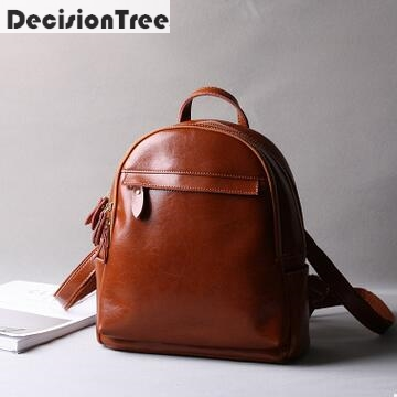 New Fashion Women Backpack 100% Real Genuine Leather Backpack Women Preppy Style School Bags for Teenagers Fashion Backpacks<br>
