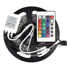 5M 5050 RGB 150Leds SMD Flexible Light Strip + 24key IR Remot DC12V