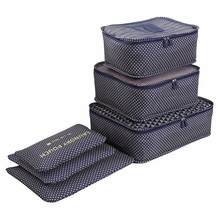 LIYIMENG Waterproof Clothes Organizer Household Portable storage Box Underwear Bra Packing Travel Cloth Storage Bag 6pcs/set(China)