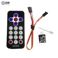 Smart Electronics Hot Sale Black Infrared IR Wireless Remote Control Module Kits for arduino DIY Starter Kit