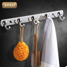 XOXO Best Promotion 3/4/5/6/7 Stainless Hooks&zinc alloy Coat Hat Holder Clothes Rack Hook Wall Home Kitchen Bathroom Hanger Doo