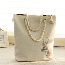 Women Canvas Casual Tote Handbag Plain Style Shoulder Bag Environmental Shopping Bag For Female Bolsas Femininas