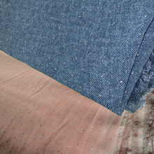 Comfortable chiffon copy jeans cloth , 145 cm wide, ladies chiffon dress or DIY material free shipping 01(China)