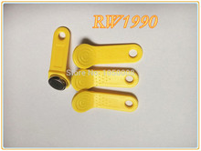 300pcs/lot Rewritable RFID Tag RW1990 can Change Code Can Copy Card Touch Memory Key Compatible DS1990 yellow color