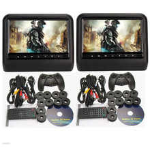 9inch 1x headrest car dvd player+ 1x car headrst monitor with 32Bit Games+USB+SD+IR/FM transmitter,