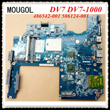 MOUGOL For HP DV7 DV7-1000 series 486542-001 506124-001 Laptop motherboard LA-4091P mainboard 100% working Free Shipping
