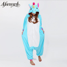 AFEENYRK unicorn Womens Soft comfortable Pajamas Set Sleepwear Loungewear Pajamas Unisex Homewear For girl/ boys/Sleepwear Adult(China)