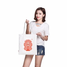 custom waterproof canvas printing handbag display mobile phone shoulder bag unisex business women tote travel bag(China)