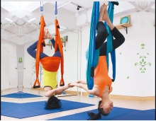 pull rope 250kg aerial yoga hammock swing full set 1*hammock+2* climbing hook+2*Rope+2*Fixed sucker+6*Handle