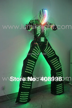 LED robot costume with digital LED helmet / illuminated LED clothing/LED robot suit