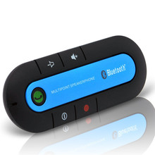 2017 Bluetooth car kit Wireless Bluetooth Slim Magnetic Handsfree Car Kit Speaker Phone Visor Clip Bluetooth aux  High Quality