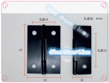 Hardware supplies Black hinge antique iron ordinary hinge 47mm*32mm*0.7mm(China)