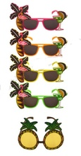 Hawaiian Novelty Glasses Tropical Hula Beach Party Sunglasses Pineapple Flamingo Goggles Hen Night Stage Fancy Dress eyewear