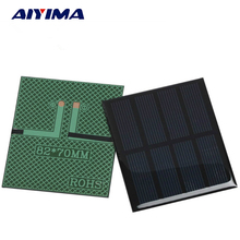 5Pcs DIY Solar Panels Flexible Solar Cells Solar Battery Energy Plate 2V 300MA 82x70MM Solar Power Charging