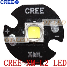 Free shipping!5PCS CREE XML2 LED XM-L2 T6 U2 10W WHITE High Power LED Emitter Bulb with 16mm Heatsink For Flashlight/DIY(China)
