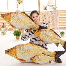 C-183Free Shipping New simulation crucian fish Pillow Stuffed Plush Animal Fish Toy Stuffed Dolls Valentines for Baby