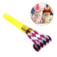 New 10PCS Small Multi Color Party Blowouts Whistles Kids Birthday Party Favors Decoration Supplies Noicemaker(China)