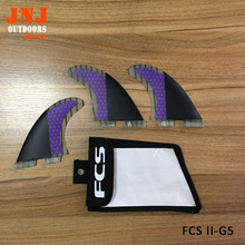 FREE SHIPPING FCS II base G5 M fins made of fiberglass honeycomb for surfing (Tri-set)G5 FCS 2 thruster with a bag