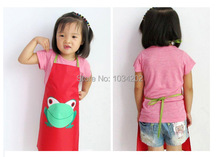 200PC Wholesale mix colors Frog style Boys Girls Kids Childrens Cooking kitchen Art Paint Smock Apron(China)
