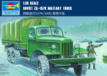 Trumpeter plastic scale model 1/35 00103 SOVIET ZIL-157K MILITRAY TRUCK assembly model kits modle building scale vehicle kit(China)