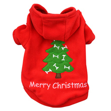 Pet Dog Clothes Puppy Coat Red Colors Breathable Fleece Christmas Dog Coat All Season Holiday Gifts Autumn/Winter