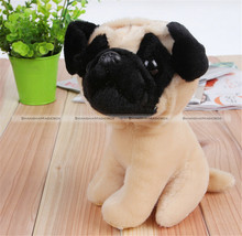 "1Pc 18CM 7"" Cute Lovely Small Pug Dog Soft Plush Stuffed Doll Toy Gift KTK"