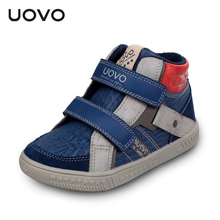 Uovo Brand Casual Sport Shoes EU 27-35 Boys Fashion Warm Sneakers Spring Autumn Winter Kids High Top Sneakers Chaussure Enfant