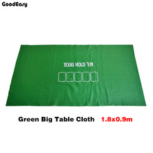 Cloth Poker-Set Baccarat Fichas-Poker Texas-Hold'em Green/black Felt-Board Non-Woven-Fabrics