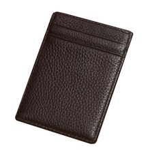High Quality Full Grain Leather Men Wallet Slim Card Holder Money Bag Cheap Purse Best Gift For Men--BID090 PM15