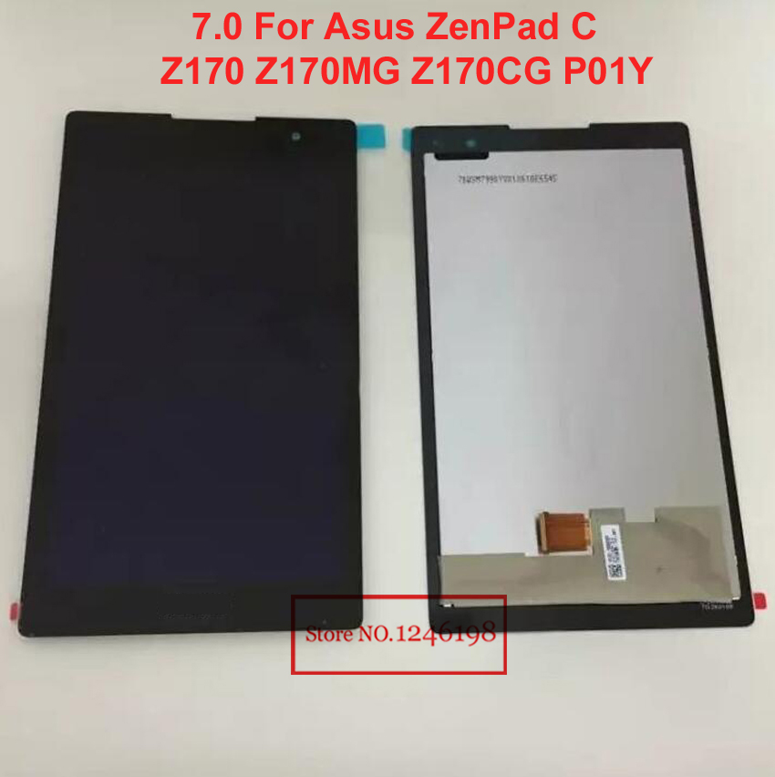 2017 New TOP Quality LCD display+ Touch Screen Digitizer Assembly For Asus ZenPad C 7.0 Z170 Z170MG Z170CG P01Y black<br><br>Aliexpress