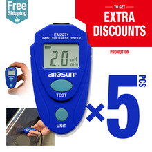 5pcs/lot Digital Thickness Gauge Car Painting Thickness Tester Paint Thickness Meter EM2271 ship from Eastern Europe warehouse