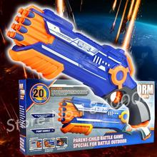 47cm Big Soft Bullet Toy Gun Sniper Rifle Plastic Gun & 20 Bullets 1 Target Electric Toy Gift N-Strike 8 bursts Blaze Storm
