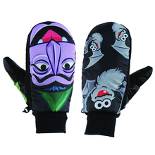 Multi colors Winter professional snowboard gloves cartoon patterns Windproof waterproof ski gloves outdoor thermal snow gloves(China)