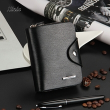 2017 Fashion Wallet Mens Leather ID Card Holder Billfold Zip Purse Wallet Handbag Clutch Men's Wallet carteras mujer Top Quality(China)