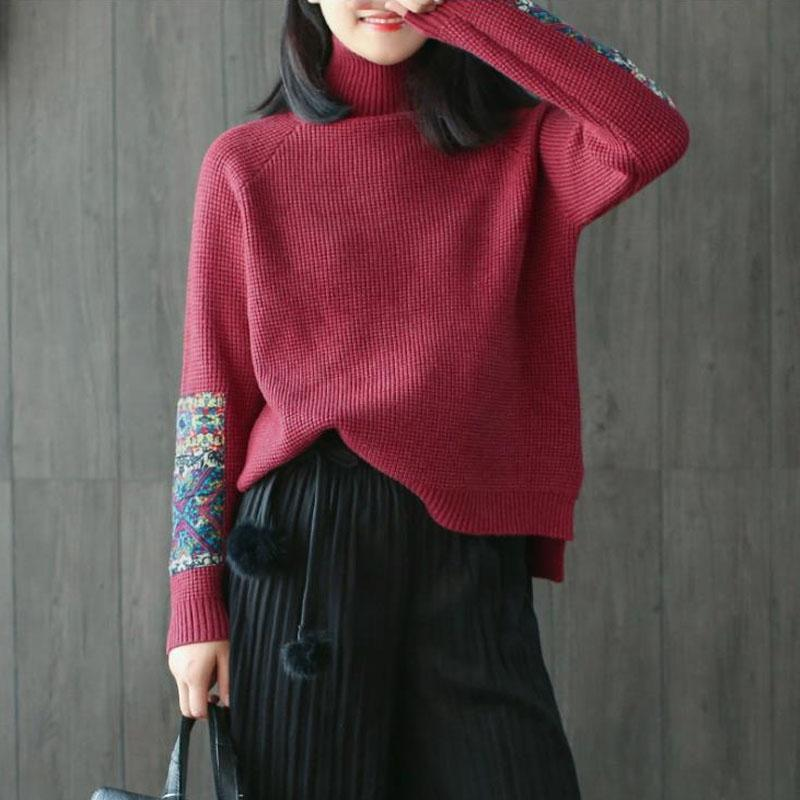 New_Half_Turtleneck_Long_Sleeve_Patchwork_Sweater_3_800x