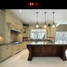 Solid wood rustic kitchen cabinets(China)