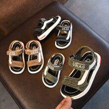 2018 Summer Kids Sandals Boys Hook & Loop Girls Sandals Children Beach Shoes Roman Sandals Easy Wear Free shipping