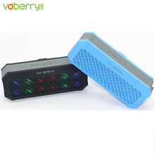 VOBERRY Mini Portable Stereo Wireless Bluetooth Speaker Colored lights Travel Music player loudspeaker For SmartPhone Tablet PC