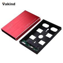 Computer PC USB 3.0 External HDD SDD Enclosure 2.5 Inch SATA 3 Hard Drive Disk Red Portable Case Box Support 3TB with Data Cable(China)
