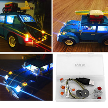 LED light up kit  for lego 10252 Beetle model  and LEPIN 21003  ( car bricks set not included) only include light set