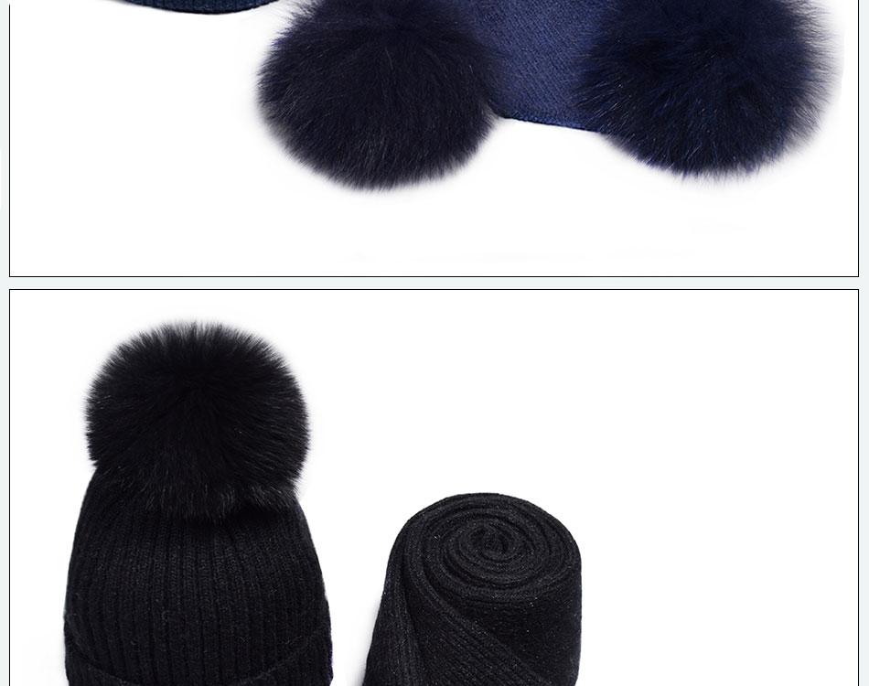 قبعة ووشاح للفتيات 17