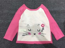 Catimini  2016  new  spring girls cardigan kitty sweater camisola crianca sweaters for baby TY226