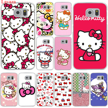 Lavaza Fashionable Hello Kitty Hard Transparent for Samsung Galaxy S6 S7 S8 Edge Plus S5 S4 S3 & Mini Case Cover