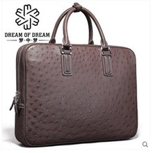 mengzhongmeng Ostrich leather men handbag ostrich leather men bag ostrich leather handbag man